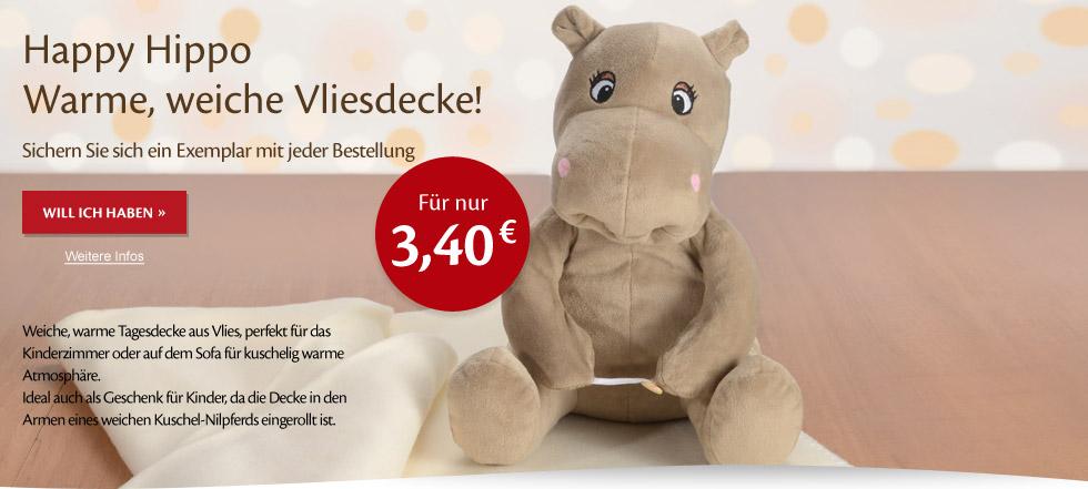 Decke Happy Hippo
