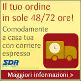 il tuo ordine in sole 48/72 ore!
