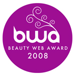 logo premio: BWA Beauty web Award 2008