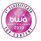 logo premio: BWA Beauty web Award 2010